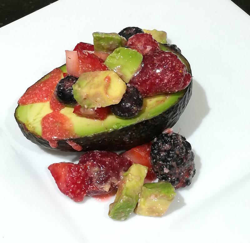 Avocado with Strawberry Sauce Recipe