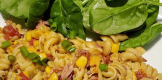 Southwestern-Pulled-Pork-Pasta-Skillet-Recipe