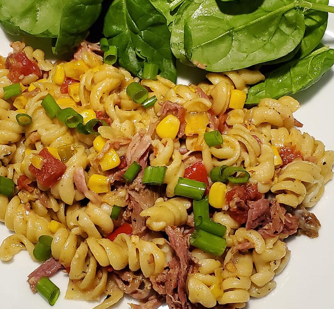 Southwestern Pulled Pork Pasta Skillet Recipe